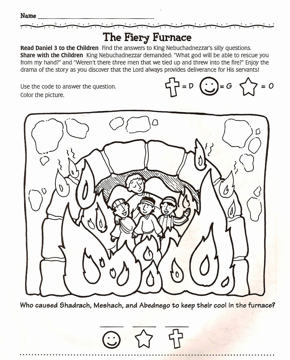 Shadrach Meshach And Abednego Coloring Page Fresh 1000 Images