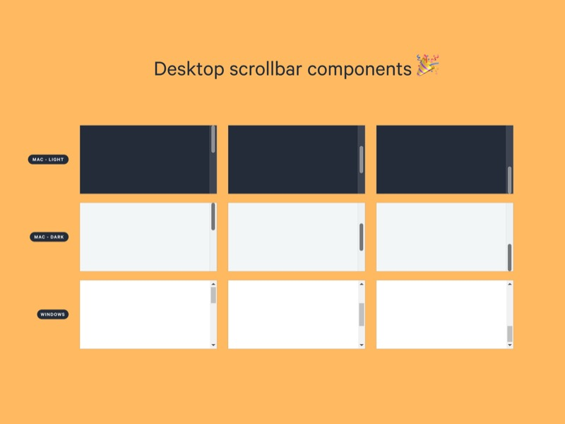Desktop Scrollbar Components Sketch Freebie Download Free Resource For Sketch Sketch App Sources In 2020 Sketch App Components Freebie
