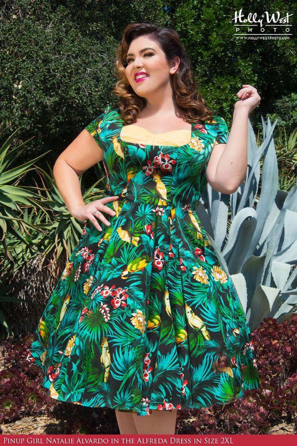 Alfreda Dress in Hawaiian Parrot Print - Plus Size in 2019 ...