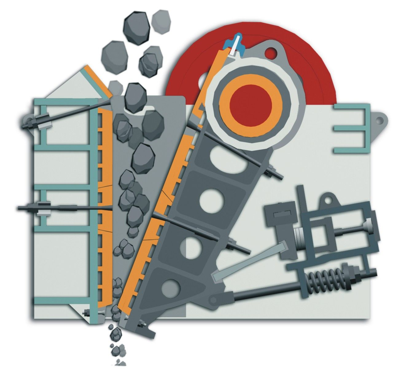 working principle of clay crusher machine Clay crusher machine is mainly by impact crushing clay, clay into the crusher by high-speed rotating hammer impact and crushing,  working principle of roll crushers.