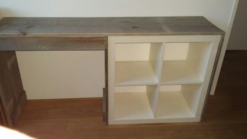 Ikea expedit steigerhout bureau gemaakt door bart godijn การ