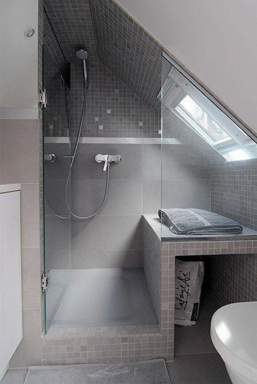 klasse einteilung für ein kleines badezimmer mit dachschräge   bad