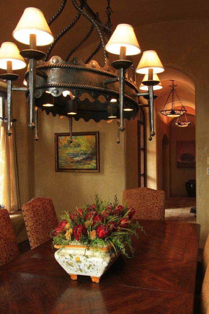 Warm Tuscan Dining Room  Design  Tuscan Style  Pinterest Brilliant Tuscan Lighting Dining Room Inspiration Design