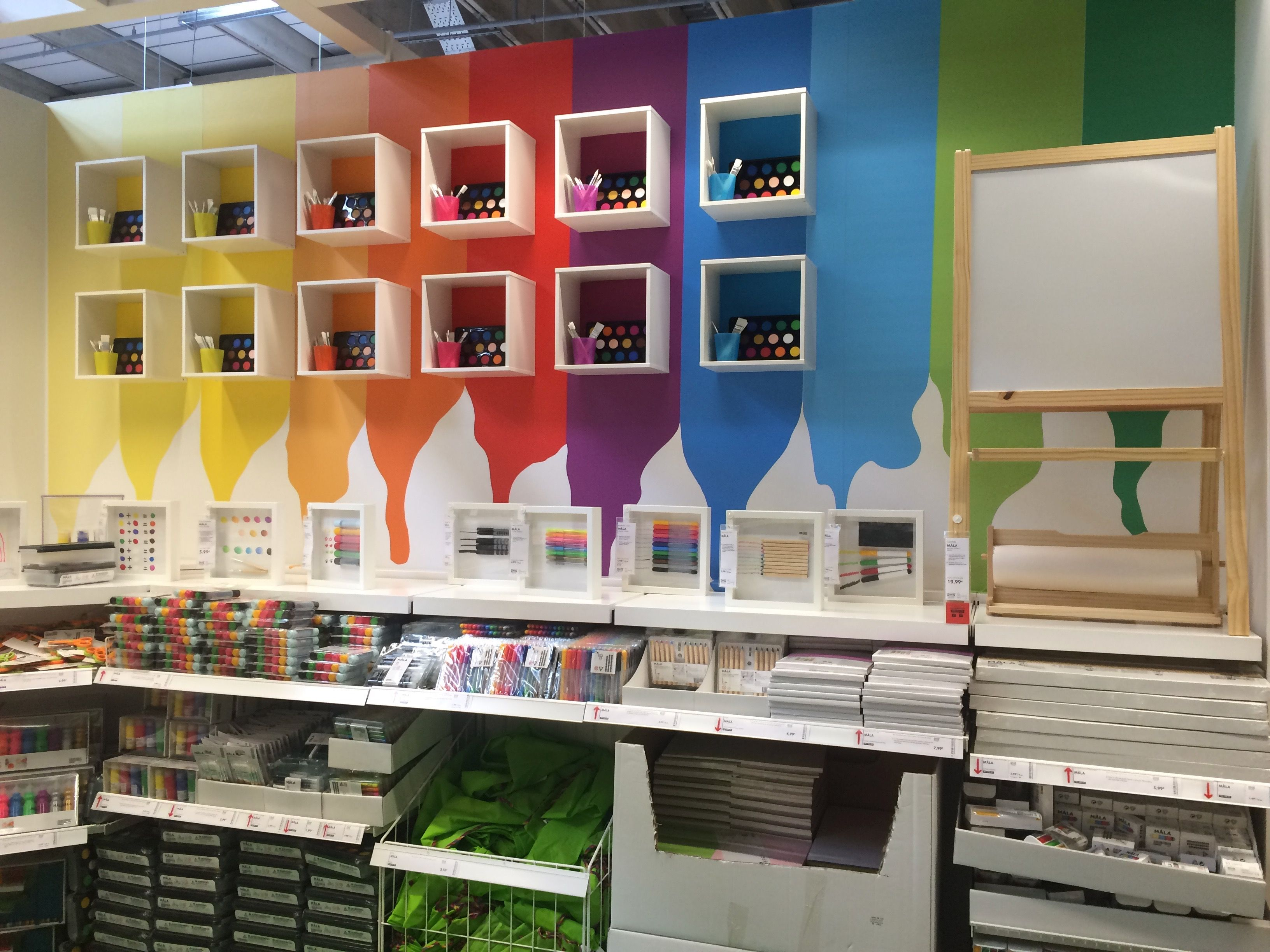 IKEA Alcorcon Madrid Childrenus art supply display alcorcon