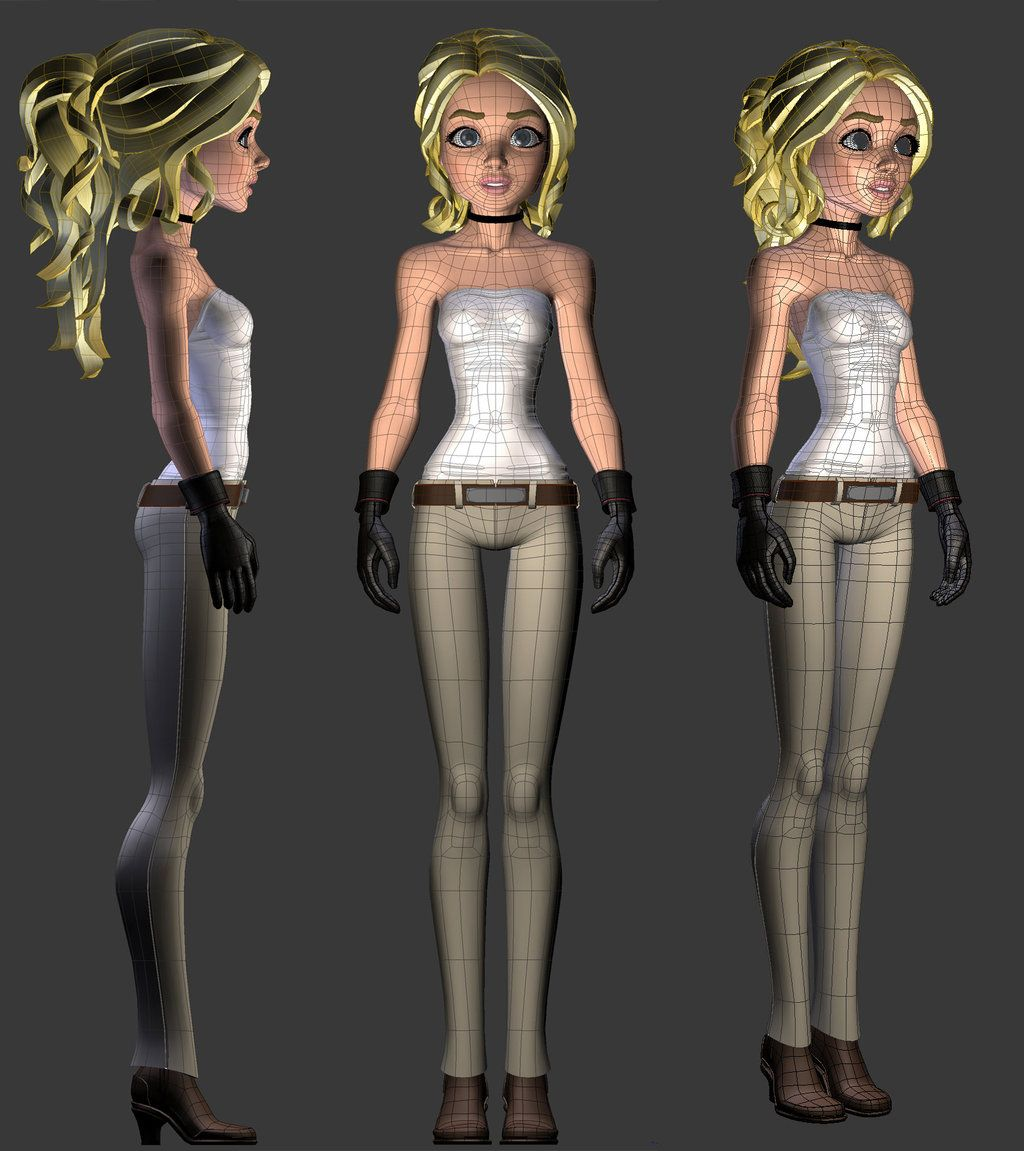 Thalia 01 wire by tjentom | Render Characters | Pinterest ...