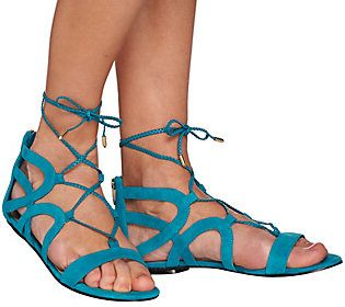 Marc Fisher Suede Lace-up Sandals - Kapre