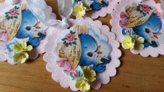 Easter gift tags ornaments for little girl vintage blue bird easter easter gift tags ornaments for little girl vintage blue bird easter package ties glittered tags pink negle Choice Image