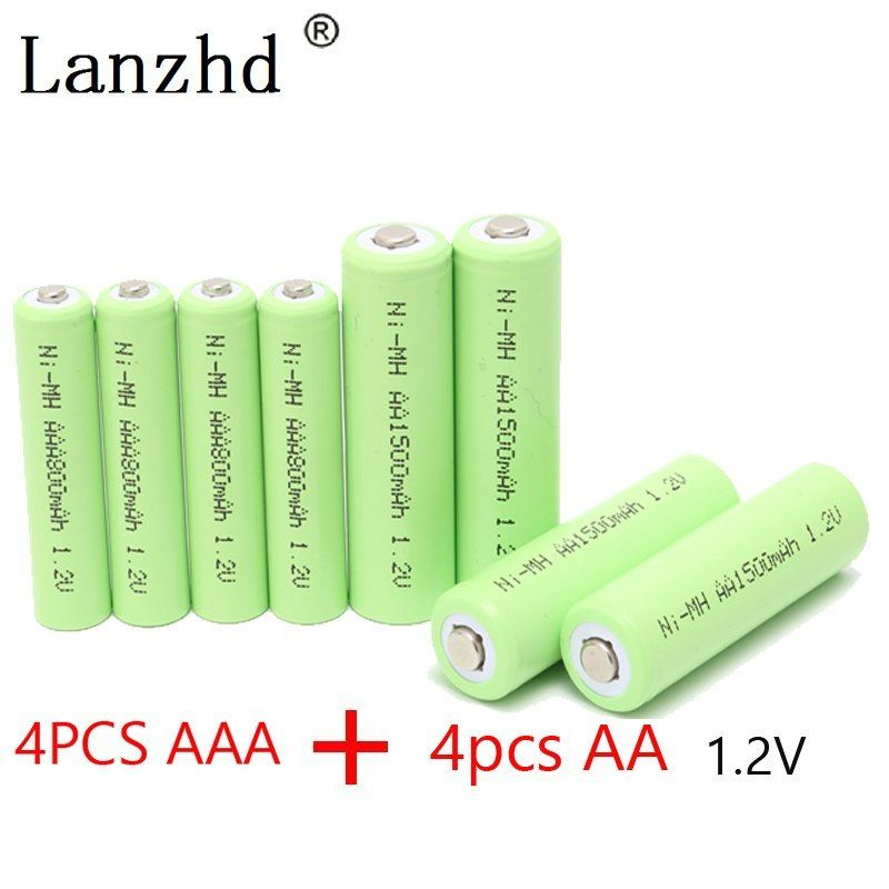 Rechargeable Battery Aa 1 2v Aaa Ni Mh Batteries 2a 3a Batter 4pcs Aa Batteries 1500mah 4pcs Aaa Batt Rechargeable Batteries Cool Things To Buy Aaa Batteries
