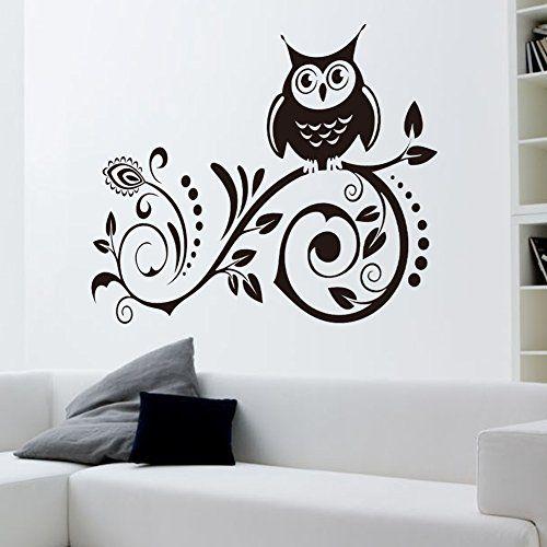 Array - mercurymall   the owl flower vine quote vinyl wall sticker sitting      rh   pinterest com