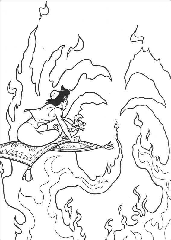 Print Aladdin kleurplaat | Coloring Pages * Disney | Pinterest ...