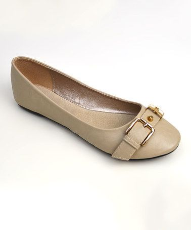 Another great find on #zulily! Nude Alani Flat by Elegant Footwear #zulilyfinds