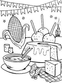 Festa Junina Comidas Tipicas Da Festa Desenho Festa Junina