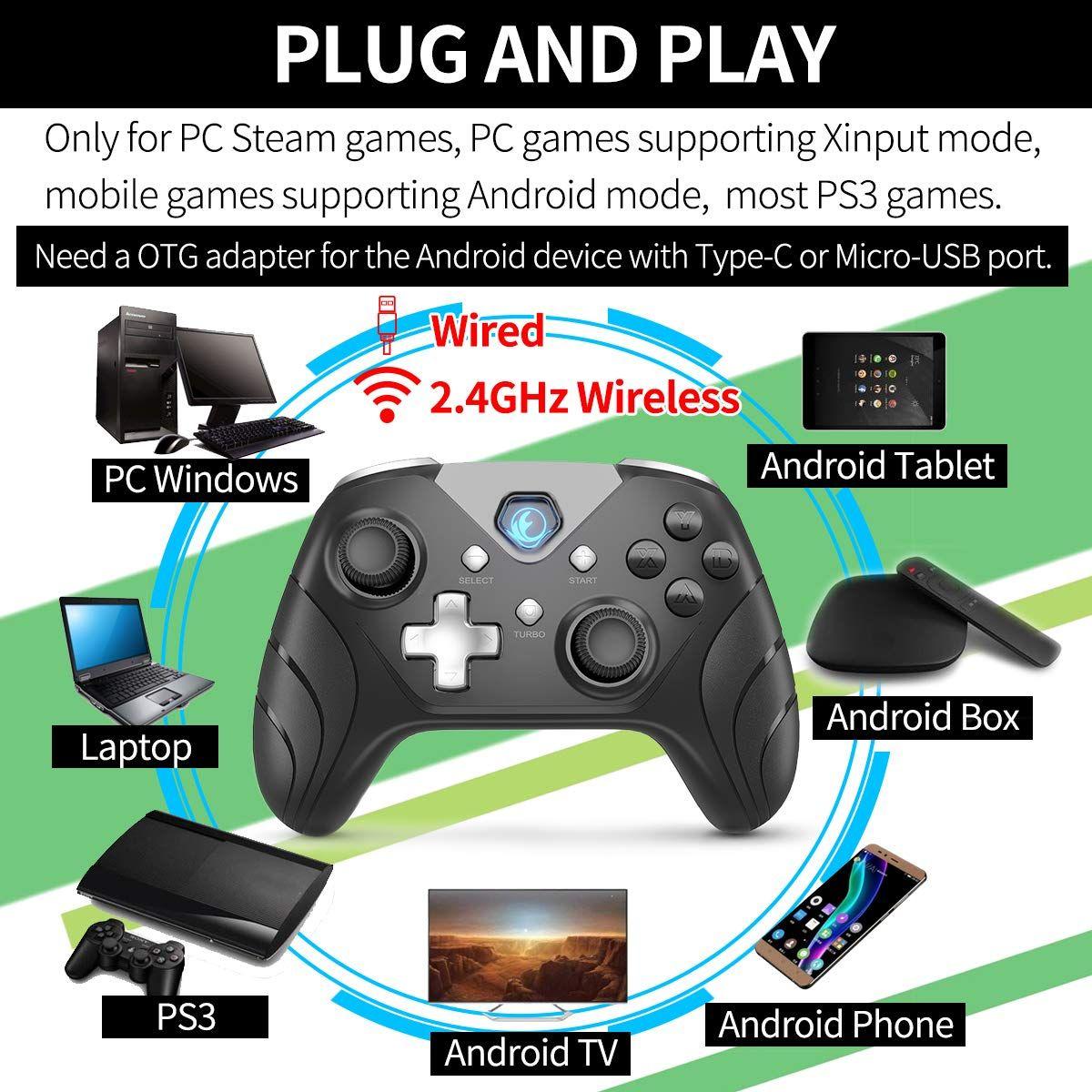IFYOO XONE [2.4GandWired] Wireless Gaming Controller USB
