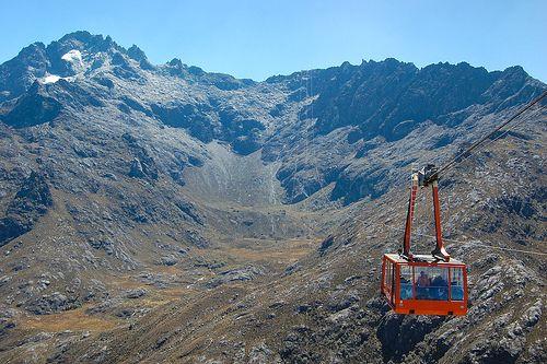 Pico Espejo y el Teleferico en Merida