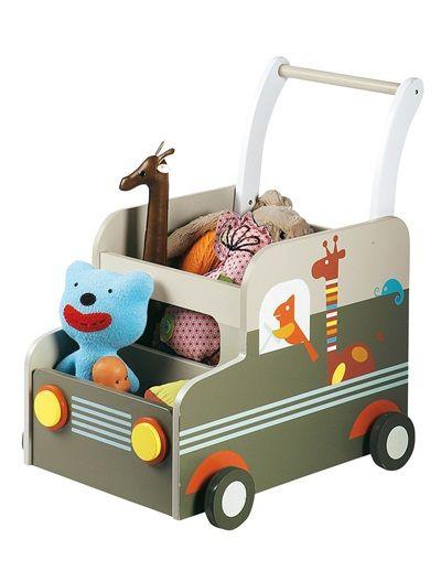 Baúl de almacenaje con ruedas bebé Sabana BEIGE MEDIO BICOLOR ...