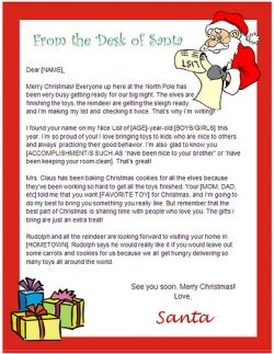 Back In The Old Days Before Santa Letter Templates Existed Santa