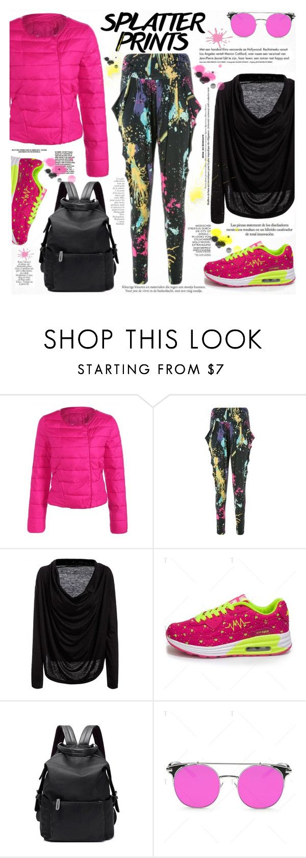 """Splatter Prints"" by katjuncica ❤ liked on Polyvore featuring Haute Hippie and By Terry"