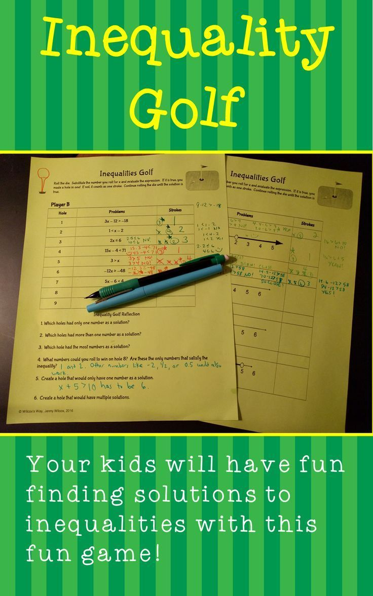 One and Two Step Inequalities Math Game Graphing