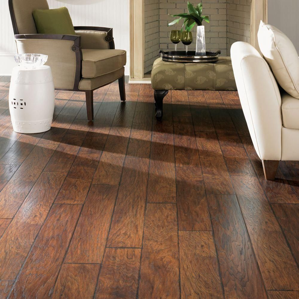 Home Decorators Collection Espresso Pecan 8 Mm Thick X 6 1 8 In Wide X 54 11 32 In Length Laminate Flooring 23 17 Sq Ft Case Hdc601 The Home Depot Flooring Wood Floors Wide Plank Laminate Flooring