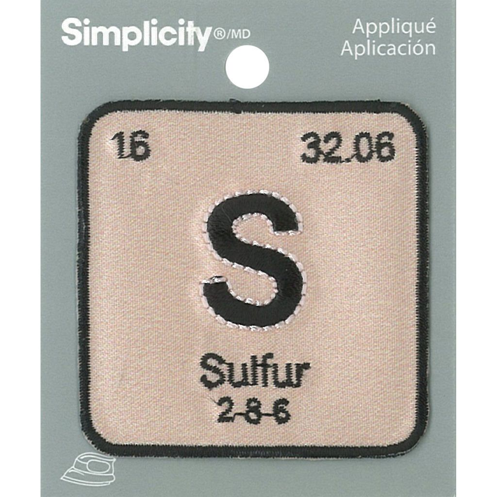 Get the simplicity periodic table iron on appliqu s sulfur at get the simplicity periodic table iron on appliqu s sulfur at michaels urtaz Gallery