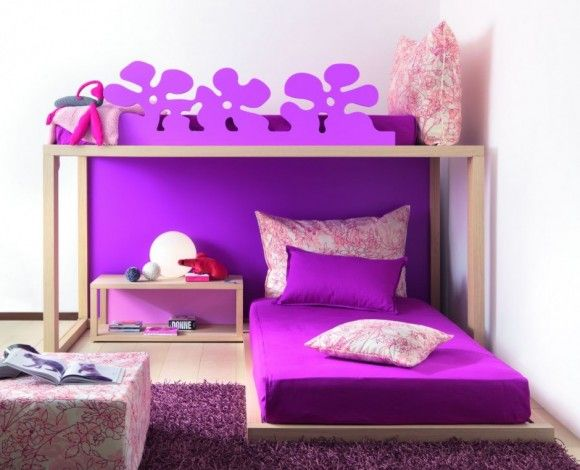 Cool Beds for Teenage Girls!#purple | Purple bedroom ...
