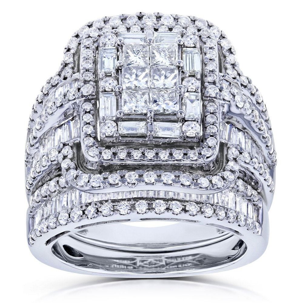 Annello by Kobelli 14k White Gold 2 1/2ct TDW Diamond