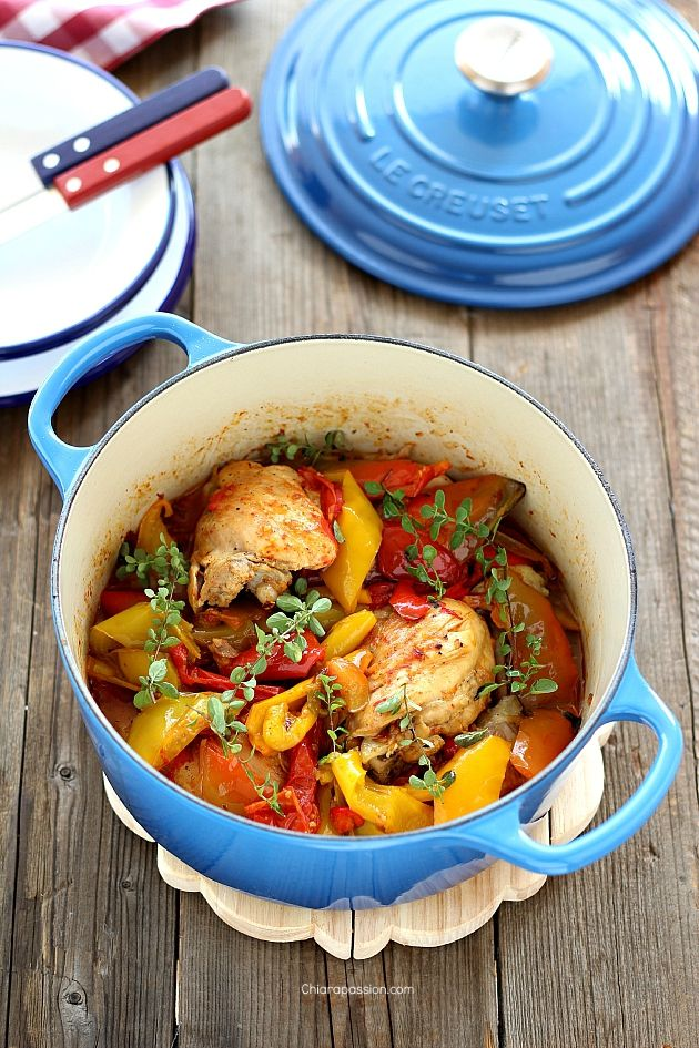 Pollo con peperoni alla romana ricetta pollo ricette for Ricette cucina estive