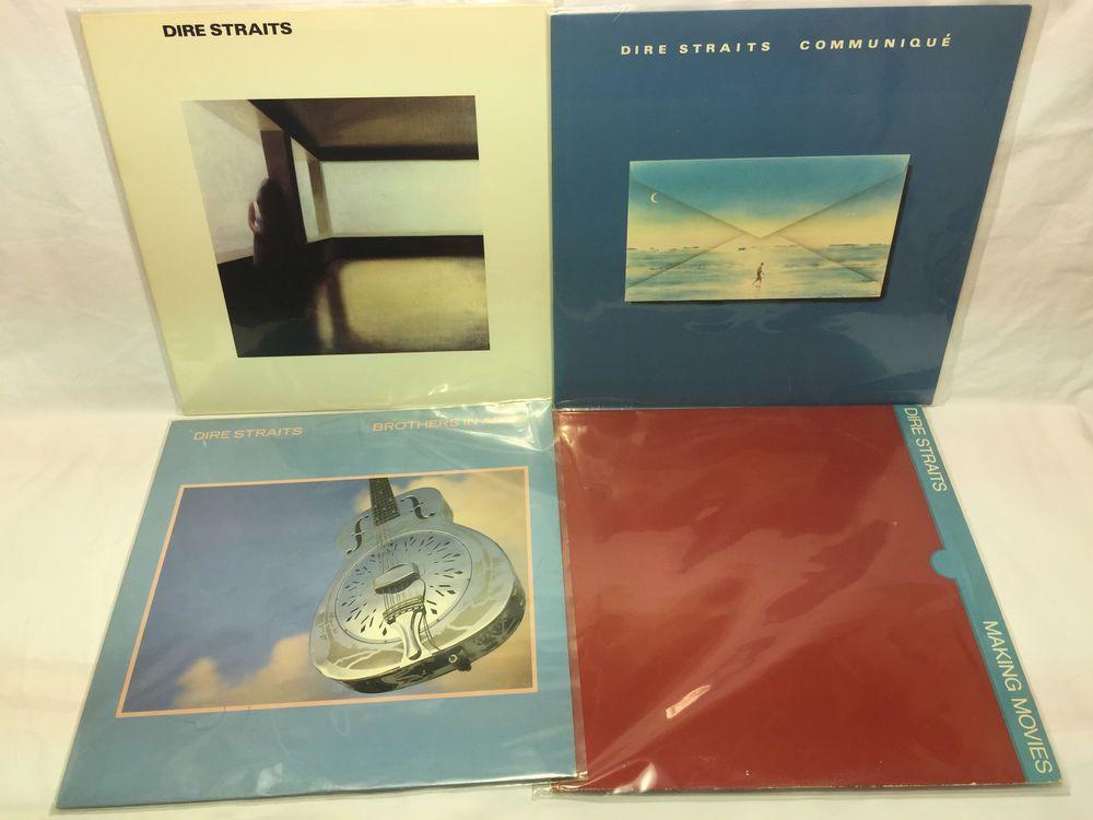 Dire Straits Vinyl Record Lot Communique Brothers Arms Self Titled Making Moves Vinyl Records Vinyl Lp Vinyl