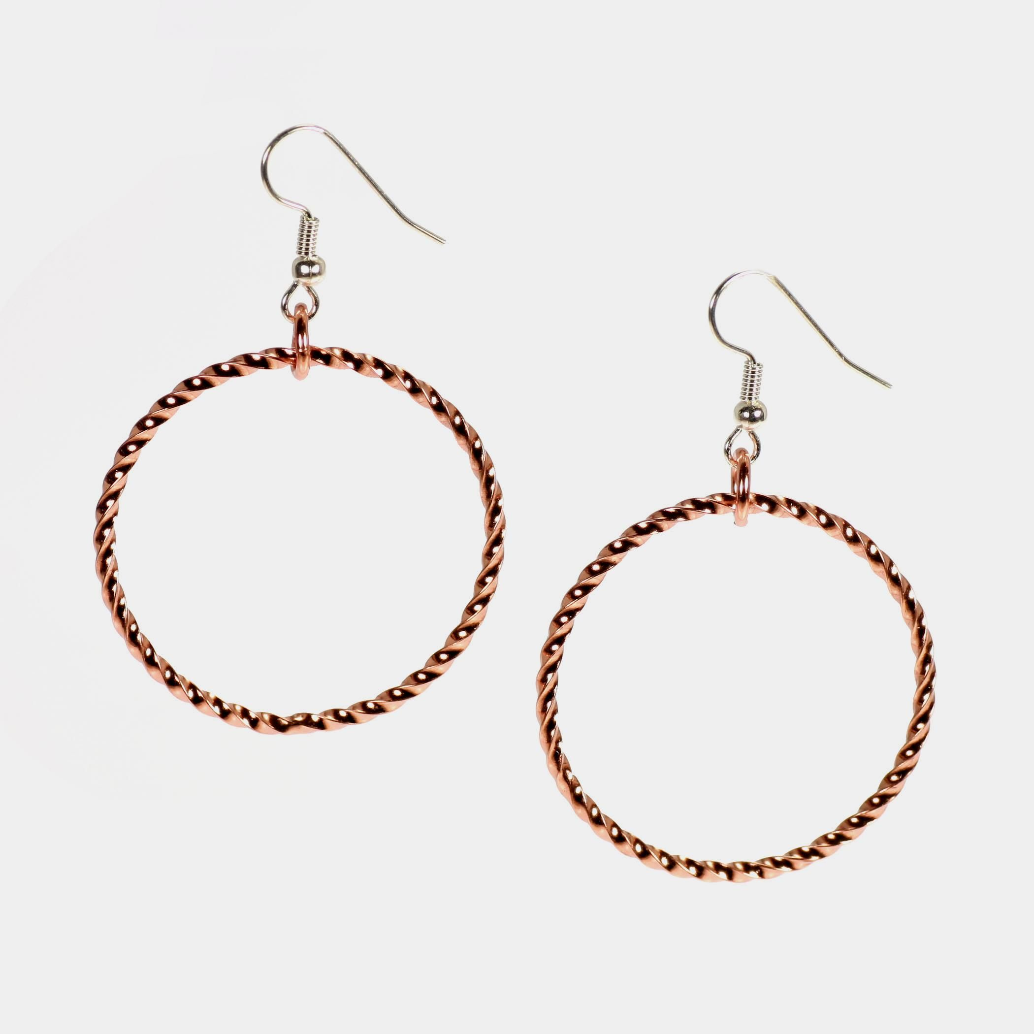New Spectacular Copper Cable Hoop Earrings Featured by #HandmadeAtAmazon #7thAnniversary http://www.amazon.com/dp/B00TU9XR3Y