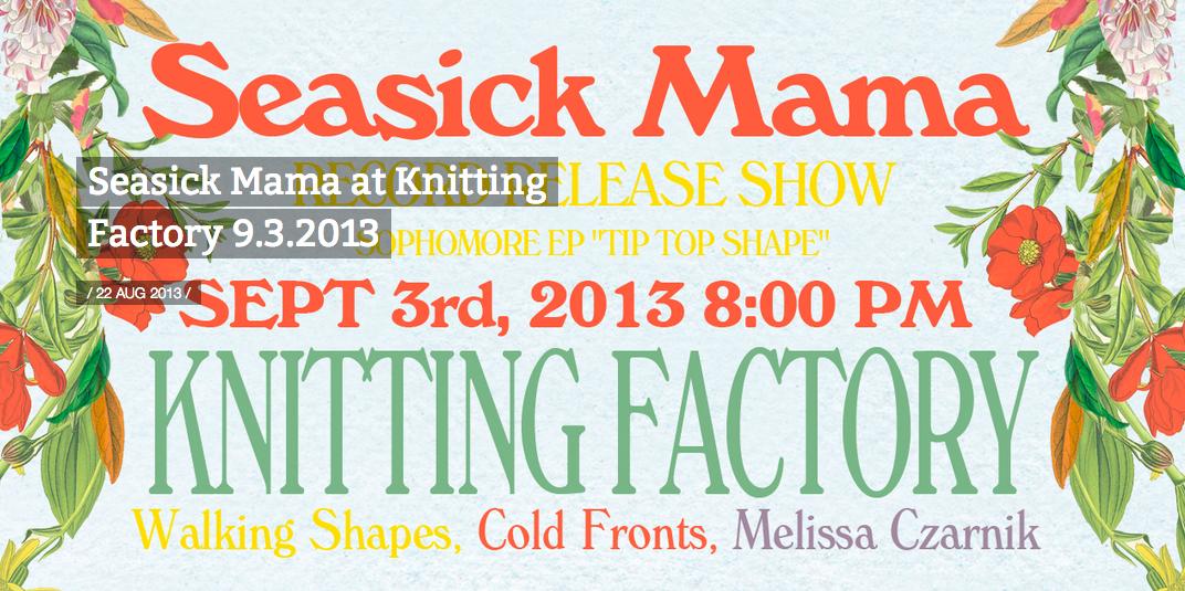 No Shame's Seasick Mama at Knitting Factory