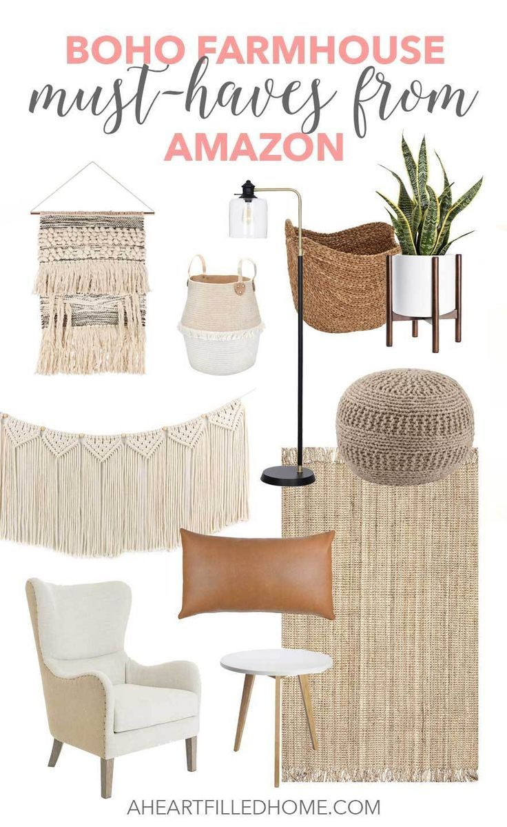 Photo of Boho Farmhouse Must-Haves from Amazon – A Heart Filled Home | DIY & Home Decor
