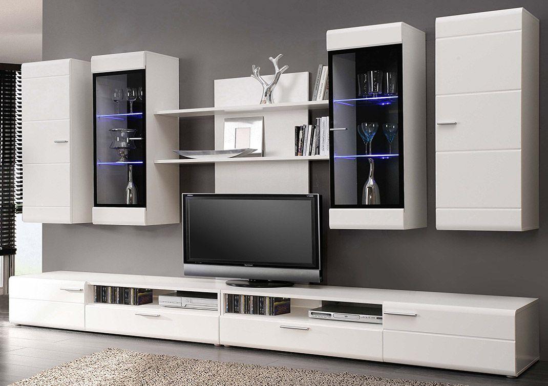 Da Un Toque Sofisticado Y Original Al Sal N Con Este Mueble  # Meuble Tv Mural Blanco