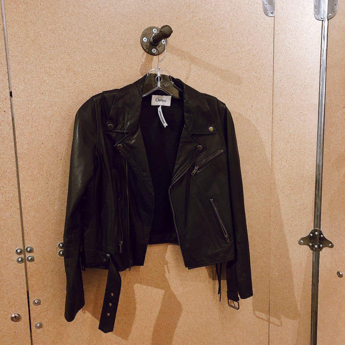 Found At Common Sort Ganni Leather Jacket Leather Jacket Jackets Fashion [ 1200 x 1200 Pixel ]