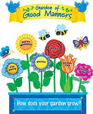 garden of good manners mini bulletin board funshineexpress  garden of good manners mini bulletin board funshineexpress com