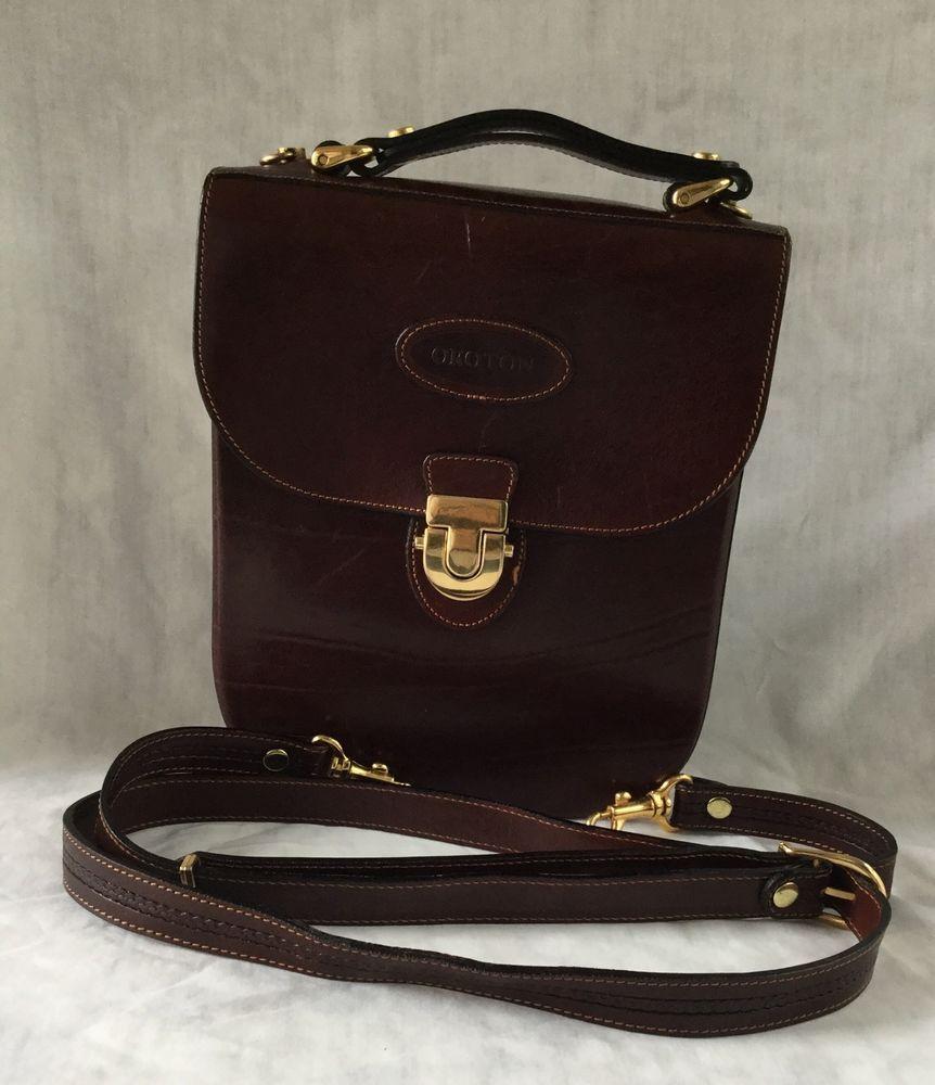 Vintage Oroton Australia Leather Cross Body Brown Bouche Purse Satchel in  Clothing ec5de95376e1b