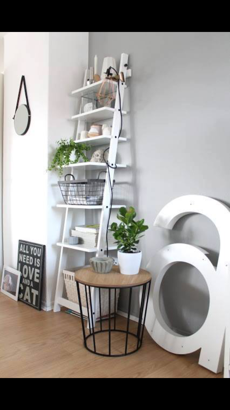 Ladder Shelf From Ikea How To Style A Bookshelf Hjalmaren