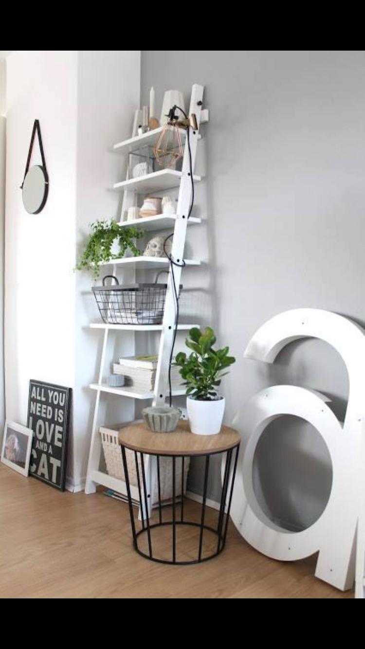 Ladder Shelf From Ikea How To Style A Bookshelf Hjalmaren