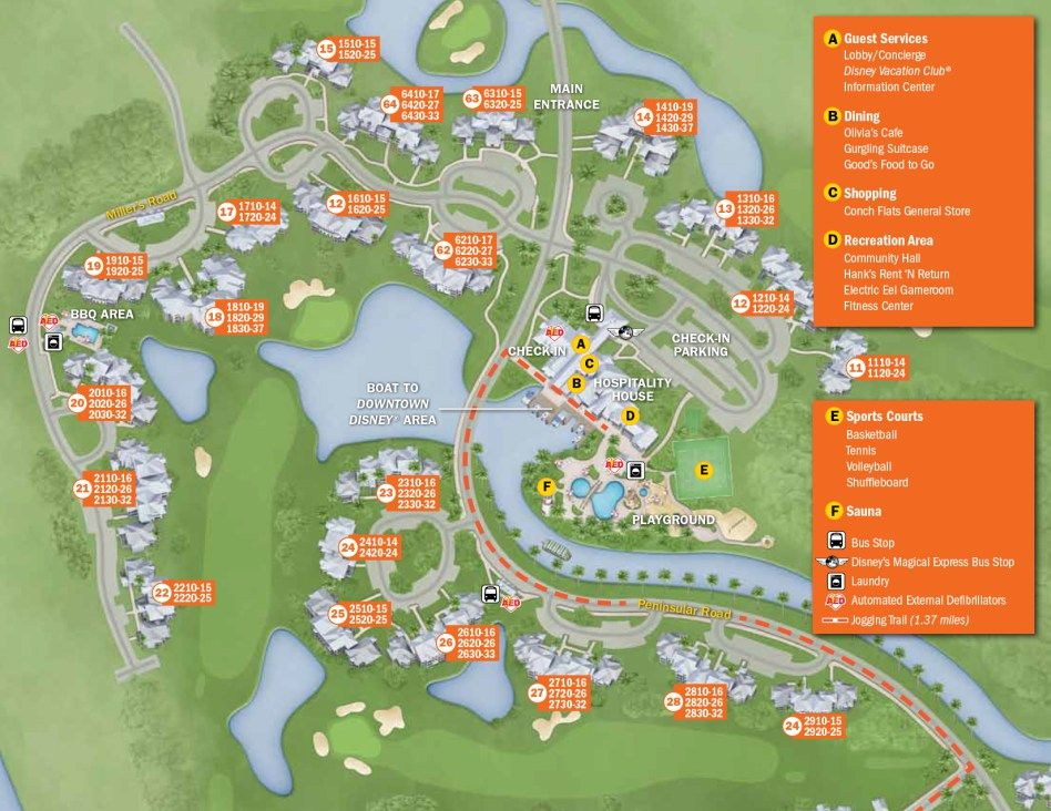 Old Key West Resort Map | Key west resorts, Disney vacation ...