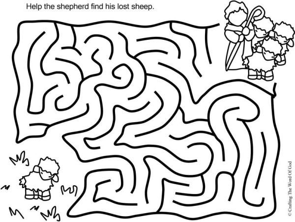 The Lost Sheep Puzzle Activity Sheet Sheets Are A Great Way To End