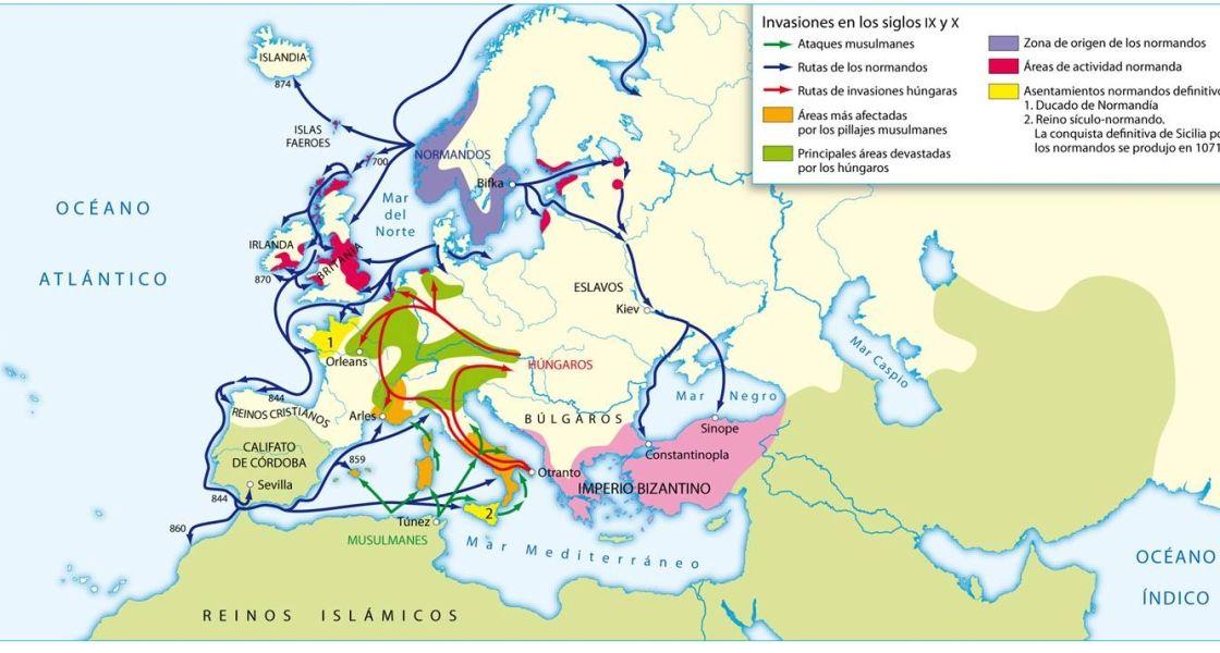 Civilizaciones Durante La Edad Media Imperio Carolingio Edad Media Historia Medieval