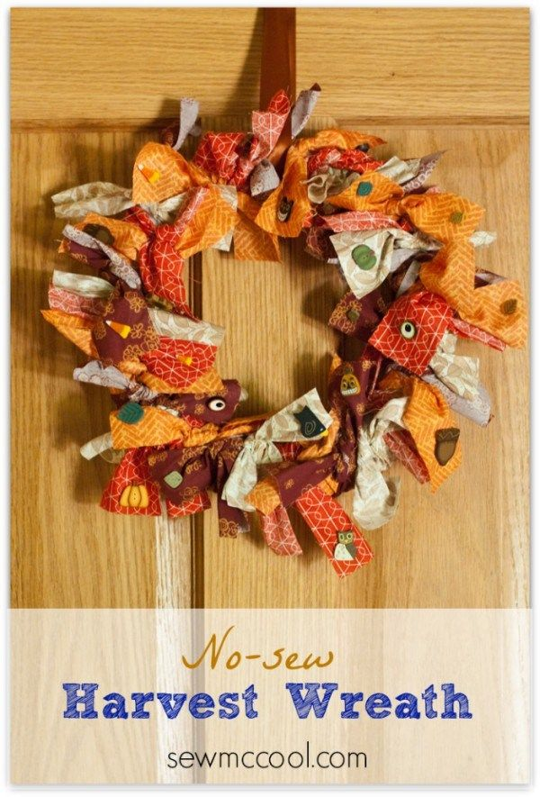 Photo of DIY no-sew fabric wreath