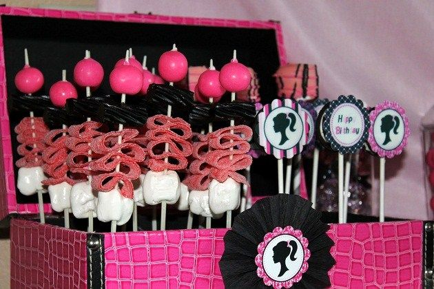 Barbie Inspired Birthday Party Barbie party Kabobs and Decoration