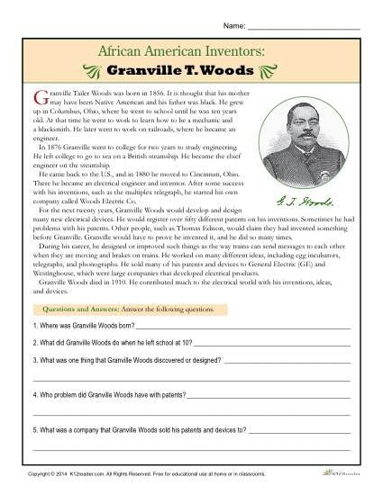 American history worksheets