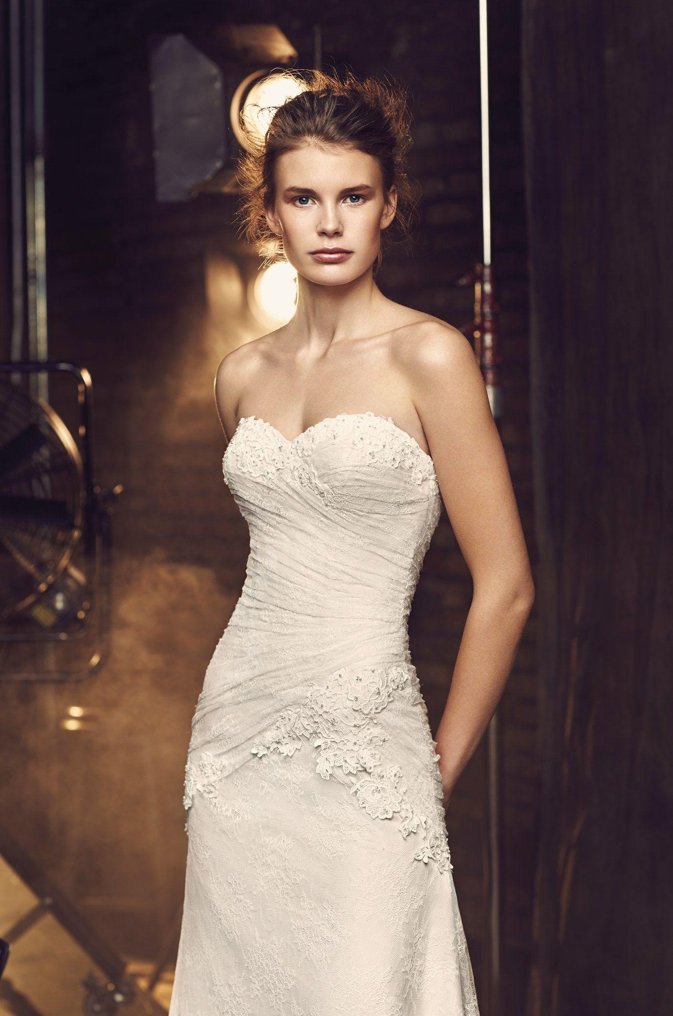 Asymmetrical lace wedding dress style mikaella bridal my