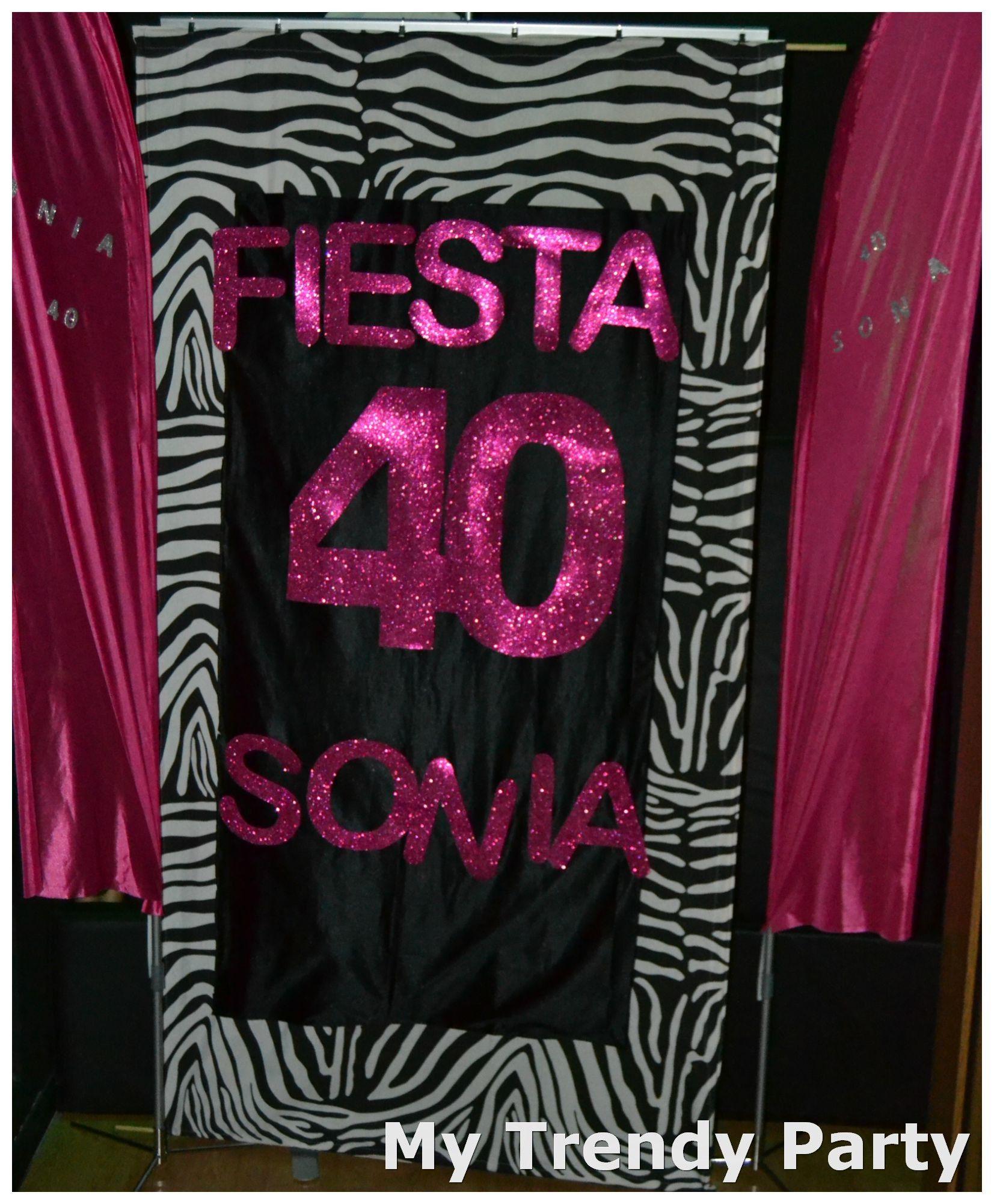 Pin de sonia my trendy party en fiesta 40 en cebra fucsia for Decoracion cebra
