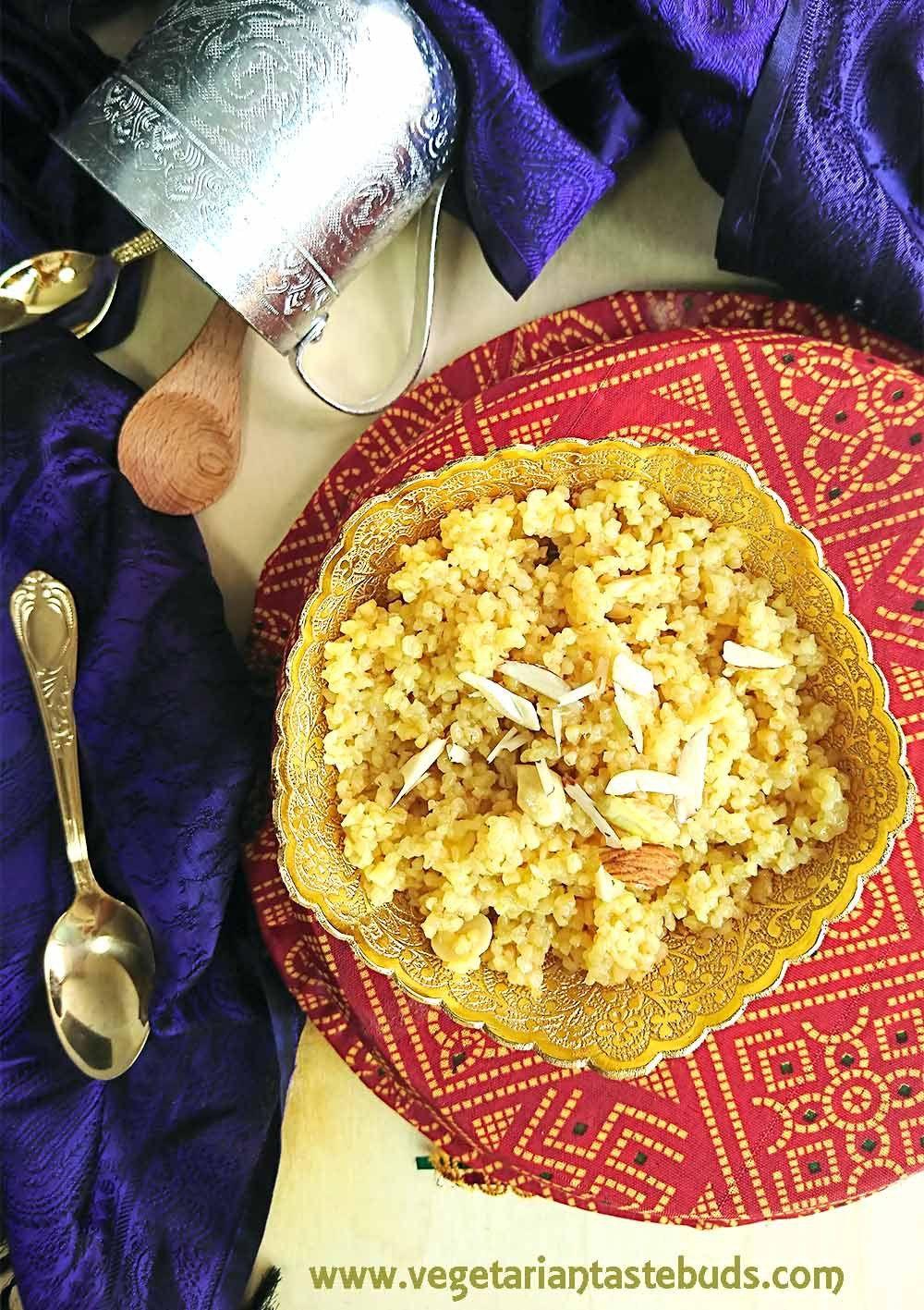 Lapsi Recipe (Gujarati Broken Wheat & Jaggery Sweet) in