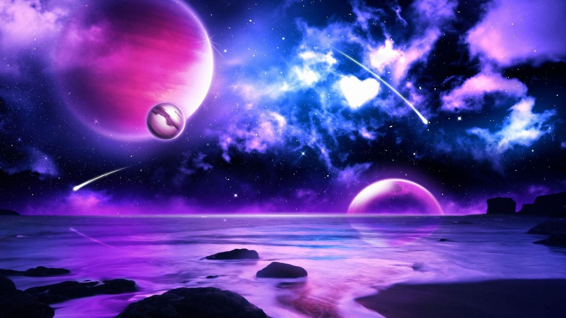 Purple Space Wallpaper Universe And All Planets Pictures