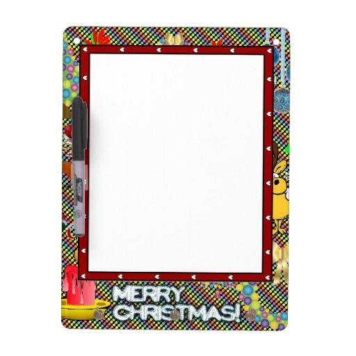 Merry Christmas Collage Dry Erase Whiteboard