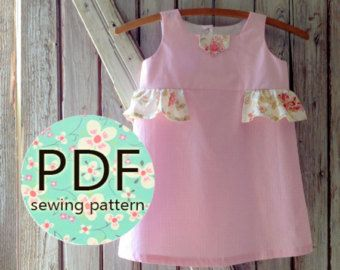 Olivia Girl's Ruffled Peasant Dress Pattern by RubyJeansCloset