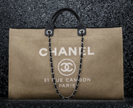 Chanel Canvas Tote with Calfskin Trim from Spring/Summer 12 Collection